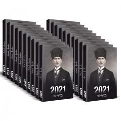 20 Adet - 2021 Atatürk Ajandası (Kalpaklı)