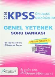 2016 KPSS Ön Lisans / Ortaöğretim Genel Yetenek Tamamı Çözümlü Soru Bankası