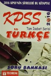 2016 KPSS Türkçe Tam İsabet Serisi Soru Bankası