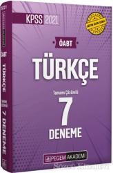 2021 KPSS ÖABT Türkçe Öğretmenliği Tamamı Çözümlü 7 Deneme