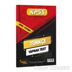 2021 KPSS Türkçe Yaprak Test