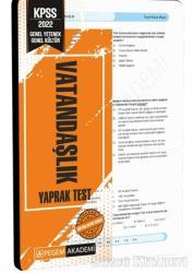 2022 KPSS Genel Yetenek Genel Kültür Vatandaşlık Yaprak Test