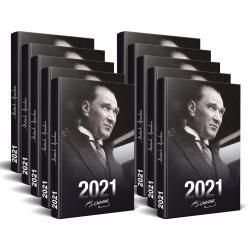 10 Adet - 2021 Atatürk Ajandası (Portre)