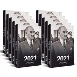 10 Adet - 2021 Atatürk Ajandası (Sivil)