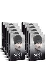 10 Adet - 2021 Atatürk Ajandası (Komutan)