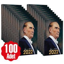 100 Adet - 2022 Atatürk Ajandası - Gazi