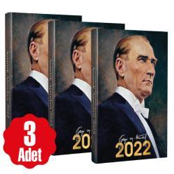 3 Adet - 2022 Atatürk Ajandası - Gazi