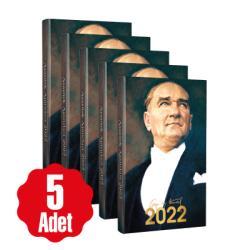 5 Adet - 2022 Atatürk Ajandası - Ulu Önder