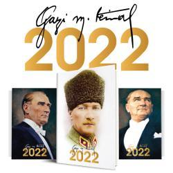 3 Adet - 2022 Atatürk Ajandası - Kalpaklı - Gazi - Ulu Önder