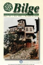 Bilge Dergisi Sayı: 23 / Kış 2000