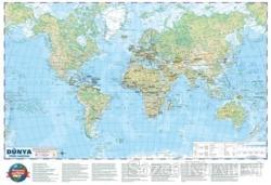 Dünya Siyasi - Fiziki Haritası 70x100 (Çift Taraflı)