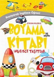 Etkinliklerle Boyama Kitabı İngilizce Taşıtlar