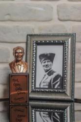 Beton Atatürk Büstü - Bronz Renk