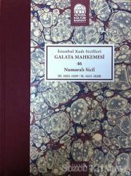 İstanbul Kadı Sicilleri - Galata Mahkemesi 46 Numaralı Sicil Cilt 38