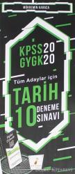 KPSS 2020 GYGK - Tüm Adaylar İçin Tarih 10 Deneme Sınavı