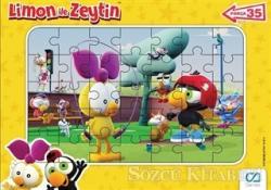 CA Games Limon ile Zeytin - Frame Puzzle 2 - Sarı (35 Parça)