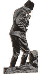 Mustafa Kemal Atatürk Kocatepe'de Ahşap Magnet