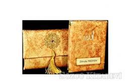 Nubuk Kumaş Kaplı ve Çantalı Yasin Kitabı Seti - Sarı