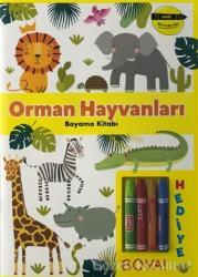 Orman Hayvanları Boyama Kitabı - Minik Ressamlar