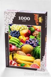 Renkli Meyveler (1000 Parça) - Ahşap Puzzle Yiyecek - İçecek Serisi - (YI01-M)