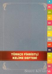 Türkçe Fihristli Kelime Defteri