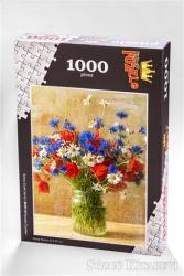 Vazoda Çiçekler (1000 Parça) - Ahşap Puzzle Bahçe Çiçek Serisi (BC07-M)