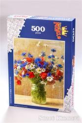Vazoda Çiçekler (500 Parça) - Ahşap Puzzle Bahçe Çiçek Serisi (BC08-D)