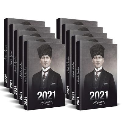 Kolektif - 10 Adet - 2021 Atatürk Ajandası (Kalpaklı)   Sözcü Kitabevi