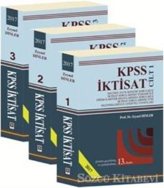 2017 KPSS İktisat (3 Cilt Takım)