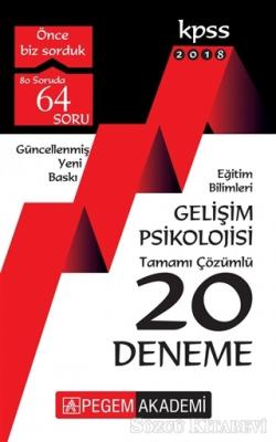 2018 KPSS Eğitim Bilimleri Gelişim Psikolojisi Tamamı Çözümlü 20 Deneme
