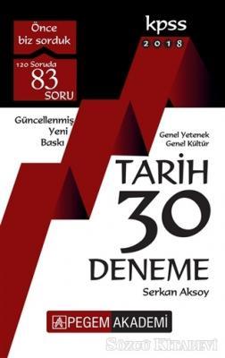 2018 KPSS Genel Yetenek Genel Kültür Tarih 30 Deneme