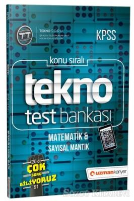 2019 KPSS Konu Sıralı Tekno Test Bankası - Matematik ve Sayısal Mantık