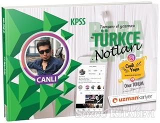 2019 KPSS Türkçe Notları