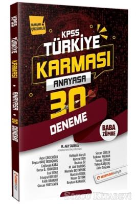 2020 KPSS Anayasa 30 Deneme Türkiye Karması Tamamı Çözümlü