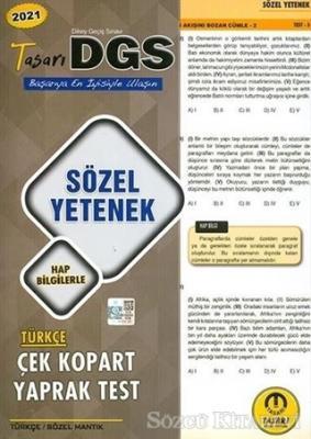 2021 DGS Sözel Yetenek Çek Kopart Yaprak Test
