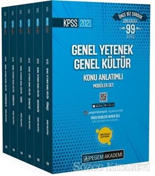 2021 KPSS Genel Yetenek Genel Kültür Video Destekli Konu Anlatımlı Modüler Set - 6 Kitap