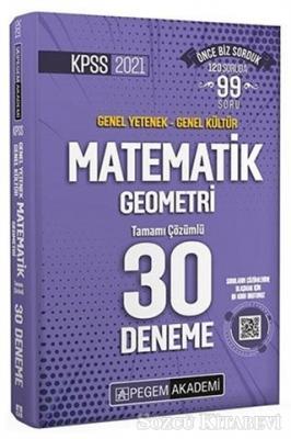 Kolektif - 2021 KPSS Matematik Geometri 30 Deneme   Sözcü Kitabevi
