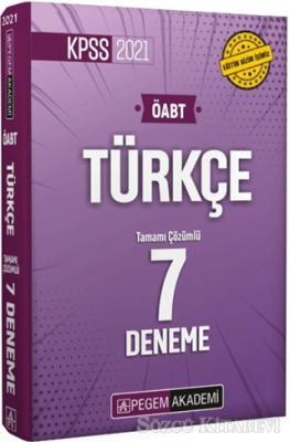 Kolektif - 2021 KPSS ÖABT Türkçe Öğretmenliği Tamamı Çözümlü 7 Deneme | Sözcü Kitabevi