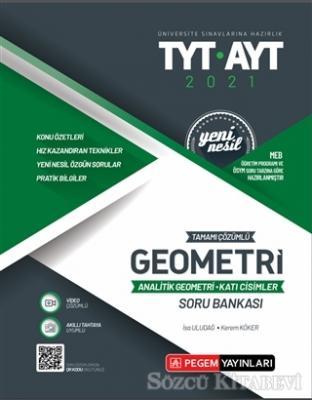 Kolektif - 2021 TYT-AYT Tamamı Çözümlü Geometri Analitik Geometri - Katı Cisimler Soru Bankası | Sözcü Kitabevi