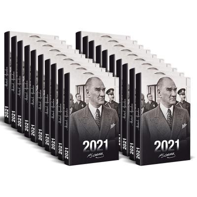 Kolektif - 50 Adet - 2021 Atatürk Ajandası (Sivil)   Sözcü Kitabevi