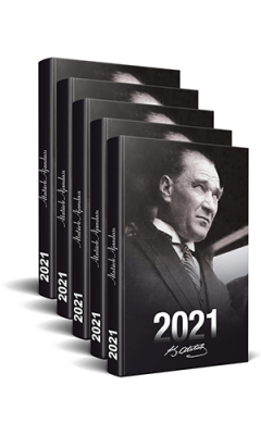 5 Adet - 2021 Atatürk Ajandası (Portre)