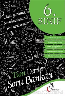 Kolektif - 6. Sınıf Tüm Dersler Soru Bankası   Sözcü Kitabevi