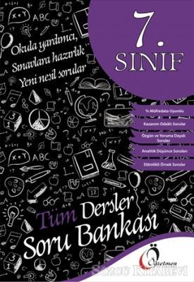 Kolektif - 7. Sınıf Tüm Dersler Soru Bankası | Sözcü Kitabevi