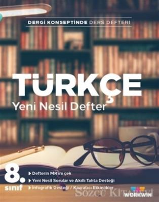 Kolektif - 8. Sınıf Türkçe Yeni Nesil Defter | Sözcü Kitabevi