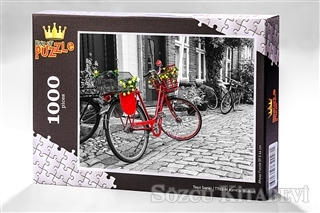 Kolektif - Ahşap Puzzle Taşıt Serisi Kırmızı Bisiklet (TT03-M) | Sözcü Kitabevi