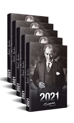 5 Adet - 2021 Atatürk Ajandası (Önder)
