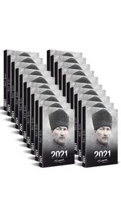Kolektif - 50 Adet - 2021 Atatürk Ajandası (Komutan) | Sözcü Kitabevi