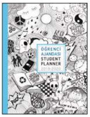 Akademi Çocuk 2019-2020 3053 Emojis Student Planner Öğrenci Ajandası