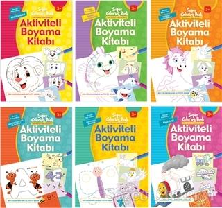 Aktiviteli Boyama Kitapları Seti 2 (6 Kitap Takım)