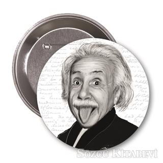 Albert Einstein (Karikatür) - Rozet